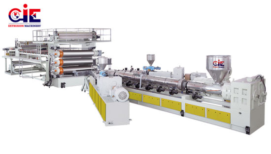 Plastic PE/Tpo/EVA/PVC Geomembrane Sheet Extrusion Machine