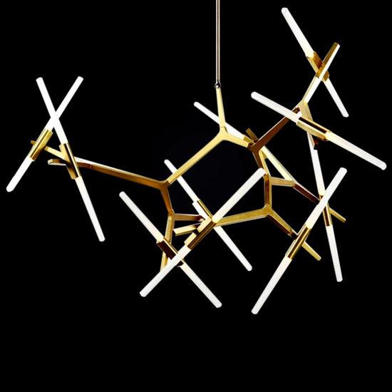 Nordic Style Glass Tube Luxury Hanging Decorative Modern Home Decor Lighting Adjustable LED Pendant Lamp Chandelier