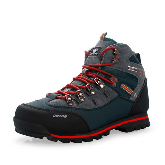 China Large Size Brand Fashion Leather Hiking Boots for Men