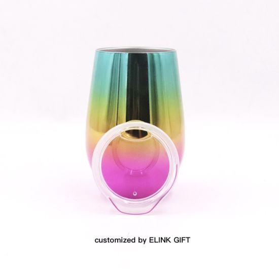 China Rainbow Color Swig Egg Shape