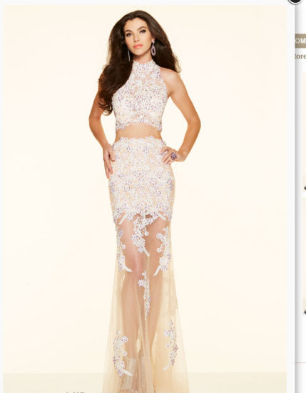 2016 Sexy Two-Piece Party Prom Evening Gowns 98007 pictures & photos