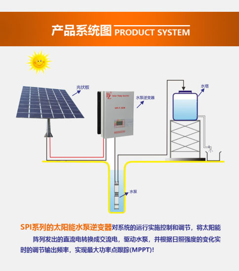 China 3700w Mppt Solar Power Inverter For Pv System Water Pump Motor