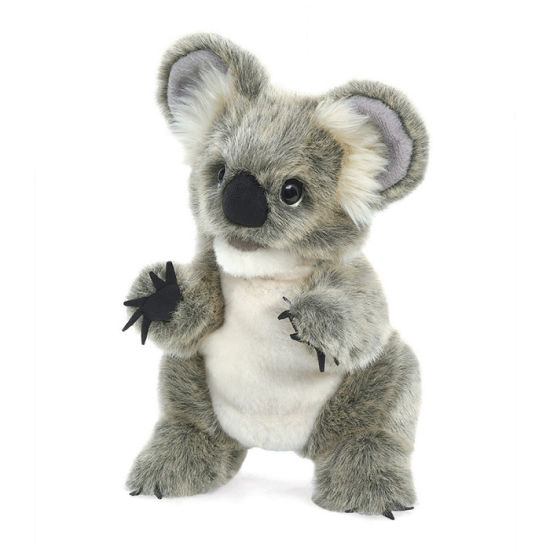 China Realistic Animal Hand Puppet Light Grey Koala Bear Hand Puppet