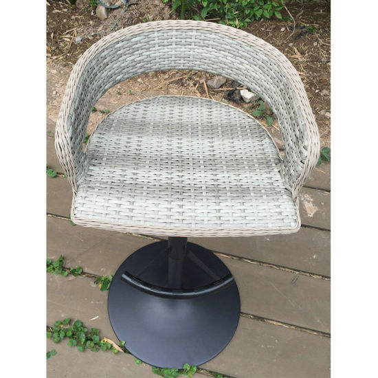 White Round Outdoor Hotel Garden Patio Wicker Rattan Table (FS-R003) pictures & photos