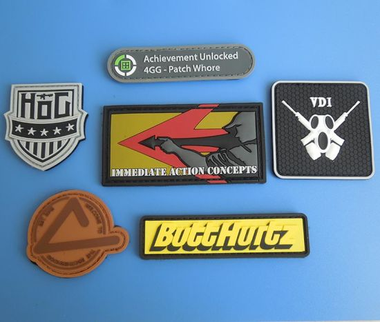 Custom 3D PVC Rubber Patch with Magic Tape Back