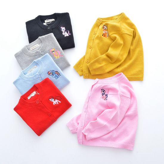 100% Cotton Children's Clothing Sweater Coat Fashionable Baby Clothes
