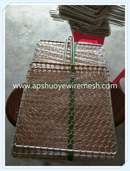 Korea Style BBQ Red Copper Grill Netting pictures & photos