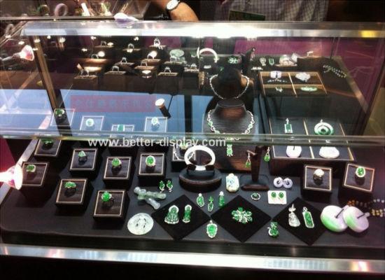 Cuatom Leather/Velvet/Acrylic Jewelry Display Tray
