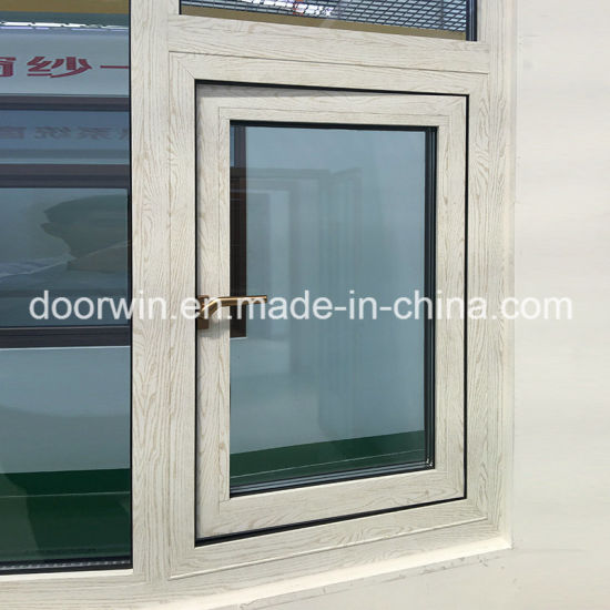 Outswing and Awning Window with 3D Wood Grain Color Finishing and Germany Origin Brand