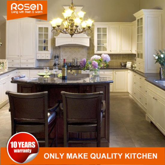 China Best Quality Low Cost Solid Wood Kitchen Cabinet Furniture