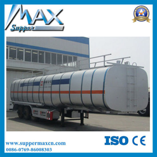 3axle 60cbm Fuel Petrol Diesel Oil Tanker with Trailer pictures & photos