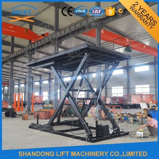 Big Capacity Scissor Type Vertical Hydraulic Car Lift pictures & photos