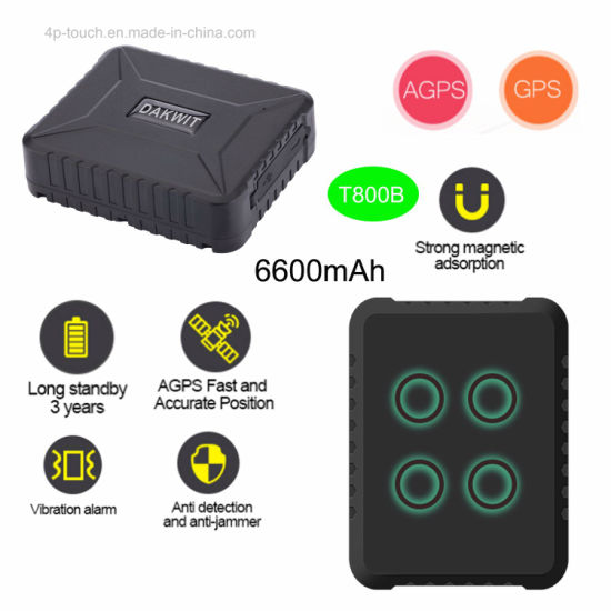 GPS/GPRS/GSM Vehicle/Goods Tracker with Vibration Alarm T800b pictures & photos
