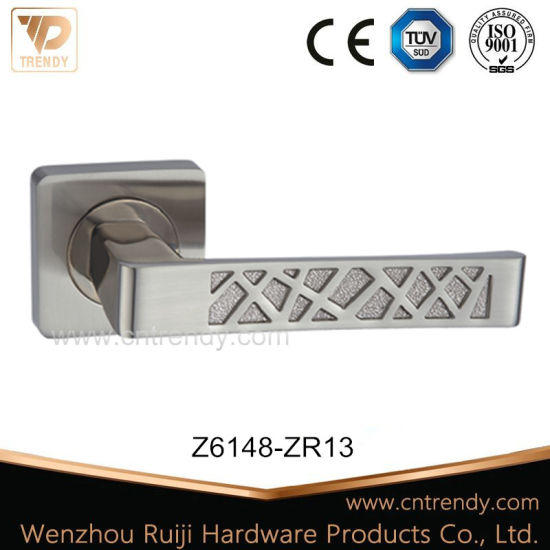 High Design Patterned Wooden Door Handle on Radius Rose (Z6148-ZR13) pictures & photos