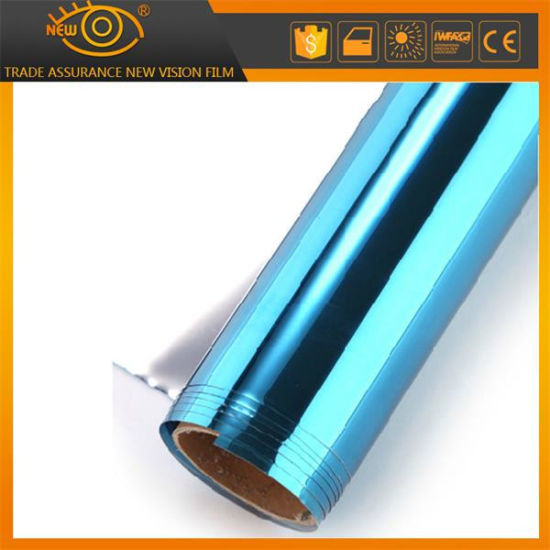One Way Vision Blue Decorative Residential Building Window Tint Film pictures & photos
