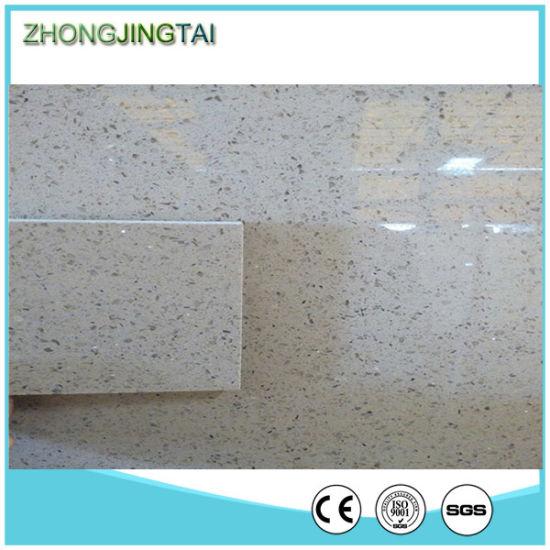 China Light Sparkle Type Crystal Floor Tiles Quartz Stone Supplier