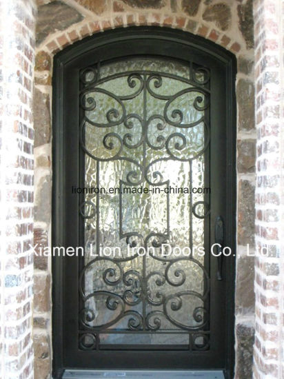 Custom Metal Exterior Door Safety Forged Iron Entry Doors