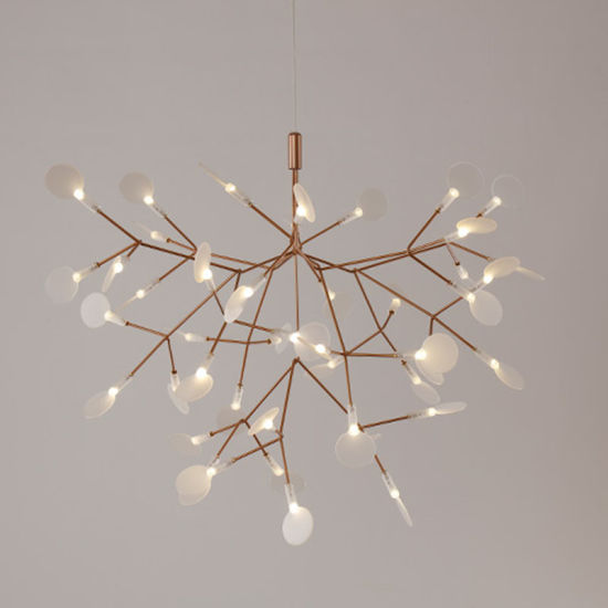 Hot Sale Nordic Creative Branches Lights Firefly Acrylic Leaf Chandelier Dining Room Simple Lighting