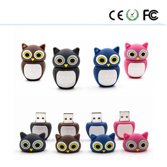 The New Silicone Cute Owl Cartoon USB Stick Figures