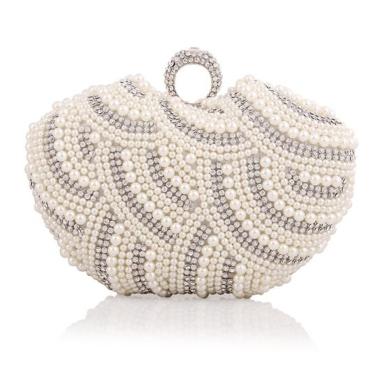 7b1b76bbe5c Newest Women Handbag Pearl Clutch Bag Designer Fashion Evening Bag pictures  & photos