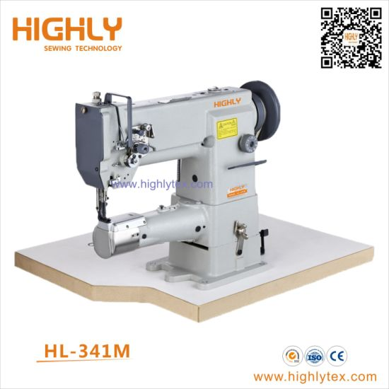 Hl-341m Single Needle Cylinder Bed Compound Feed Heavy Duty Sewing Machine