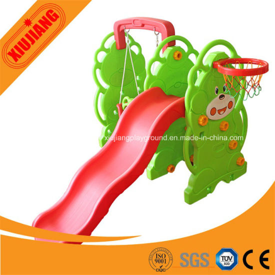 Colorful School Play Structure Small Plastic Slide for Kids pictures & photos