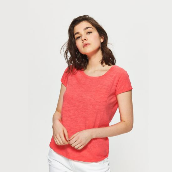 Eco-Friendly Bamboo Fiber Women's T-Shirt with Pocket on Chest