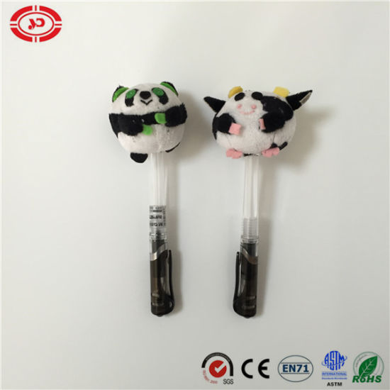 Custom Plush Round Quality Stuffed Cute Pen Cap Cover Toy