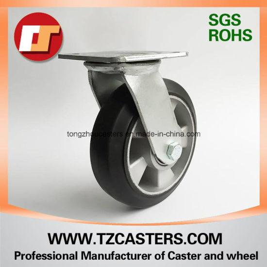 Swivel Caster Heavy Duty Rubber Wheel with Aluminum Center 200*50
