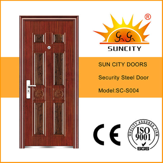 Latest 6 Panel Metal Door Design (SC-S004)