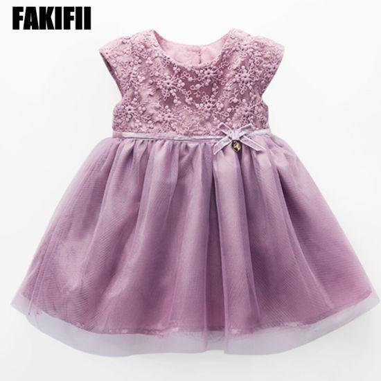 Brand Designed ODM Baby Garment Girl Cotton Dress Embroidery Apparel