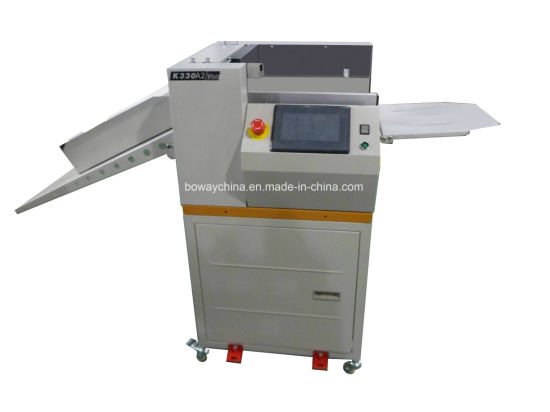 Digital Electric Automatic Paper Creasing and Perforating Machine with Cabinet K330c pictures & photos