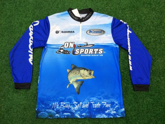 Team Sports Humorous Professional Design Fishing Shirts For Mens Jackets With Your Own Logo Full Sublimation Outfits