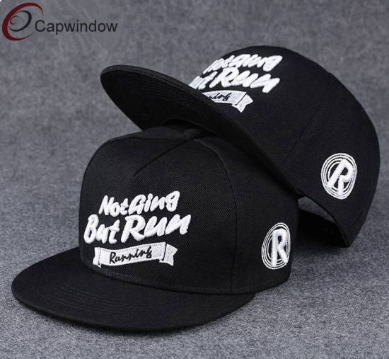 af98120ca43 China Flat Brim Snapback Hat with Custom Embroidery Design - China ...