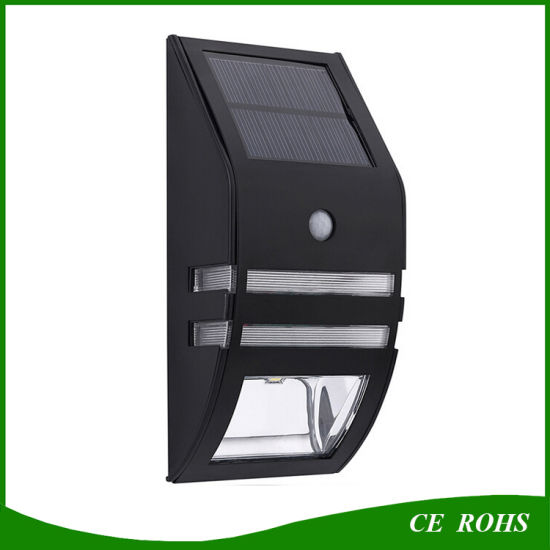 Outdoor Gate Wall Lamp 2LED Garden Light Solar LED Lighting With PIR Motion Sensor For Pathway