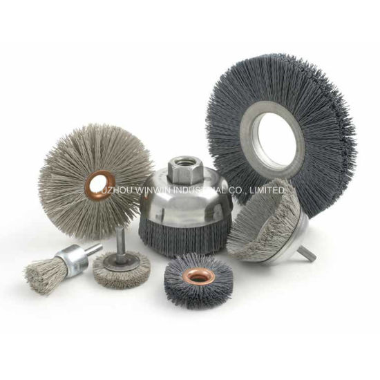 Abrasive Nylon Brushes Cup Brush Bevel Brush (WW-ANB01) pictures & photos