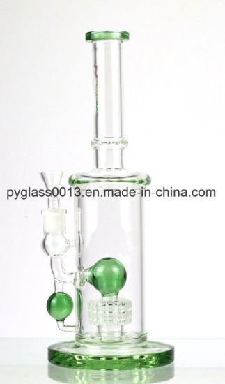 9mm Thickness Hookah Glass Water Pipe / Glass Smoking Pipe