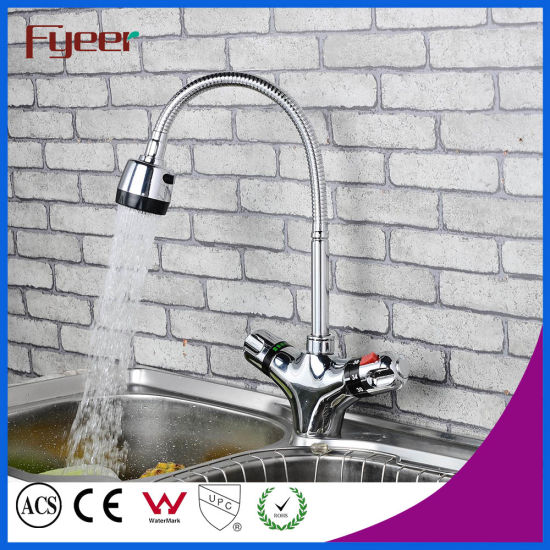 China Fyeer Flexible Kitchen Tap Mixer Thermostatic Faucet - China ...