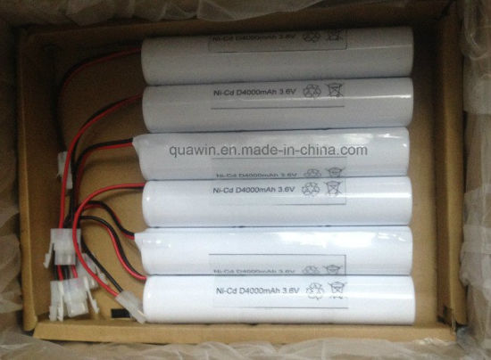 NiCd D Battery Pack 3.6V 4000mAh for Emergency Light pictures & photos