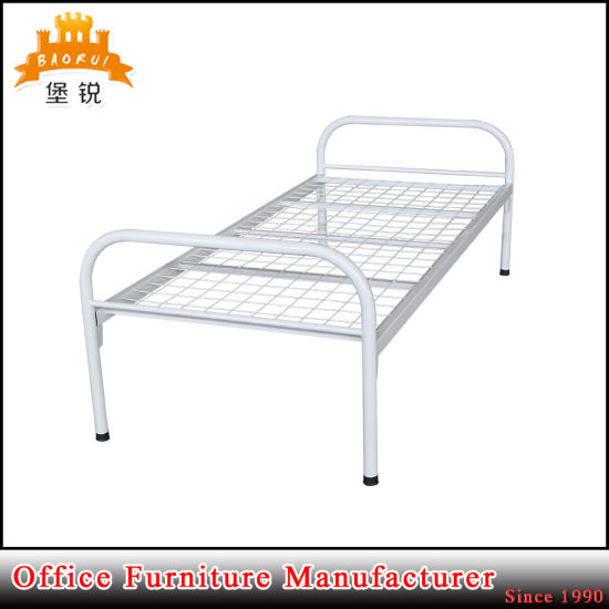 Steel Furniture School Military Worker Cheap Metal Single Bed pictures & photos