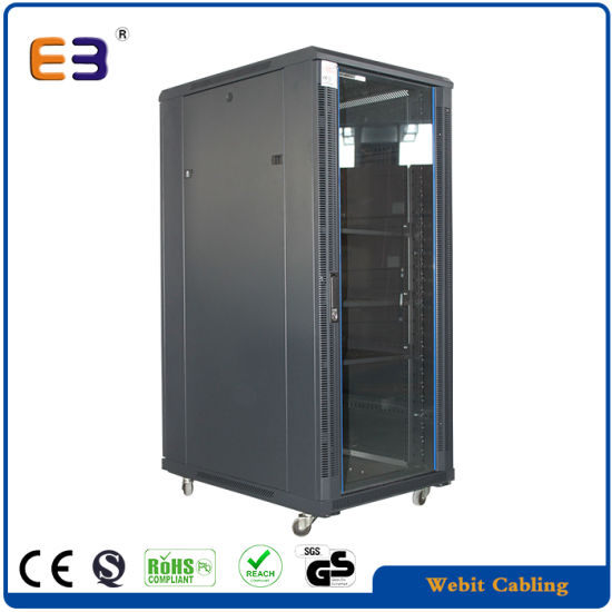 42u Network Cabinets with Arc Vented Door Board