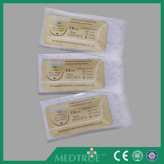 High Quality Disposable Surgical Suture with CE&ISO Certification (MT580F0706) pictures & photos