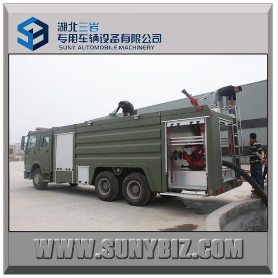 Sinotruk HOWO 6X4 371HP Water Foam Tank Fire Automobile