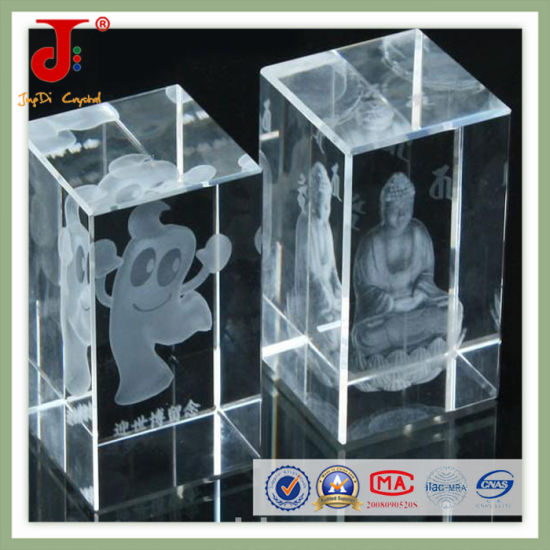 3D Laser Engraved Crystal Cube of Engraving pictures & photos