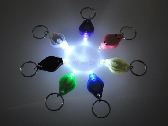 Key Chain LED Key Chain Plastic Key Chain Key Ring with Light for Promotion Gifts pictures & photos