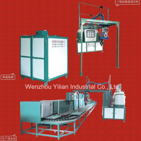 Low Pressure Conveyor Type PU Pouring Machine for Sole /Shoe/Sandal/Slipper