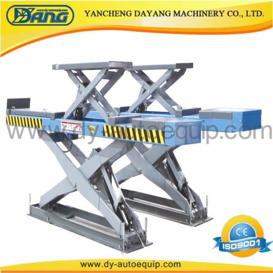 China 5t Inground Alignment Scissor Car Lift Jack Hydraulic Scissor
