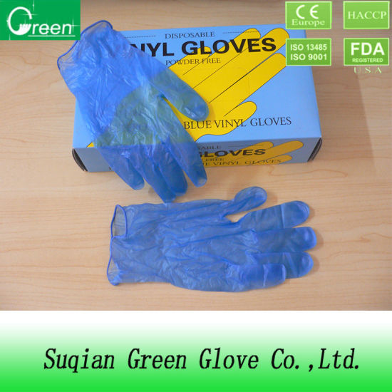 Blue Powder Free Vinyl Gloves (AQL: 1.5/2.5/4.0) pictures & photos