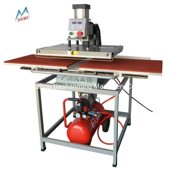 Double Position T Shirt Pneumatic Heat Press Transfer Machine 40X60