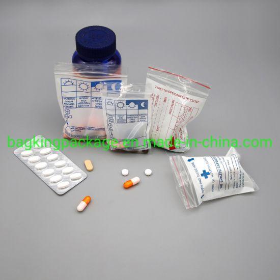LDPE Medical Drug Envelop, Medicine Reclosable Bag
